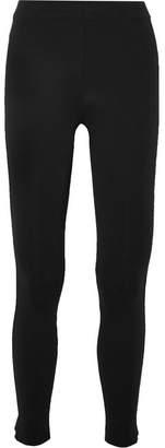 James Perse Cropped Stretch-scuba Leggings - Black