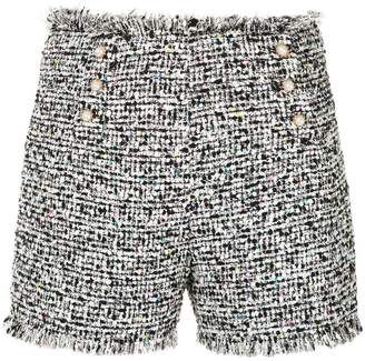 Edward Achour Paris tweed style shorts
