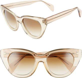 Morgenthal Frederics Oscar De La Renta X Holly 54mm Cat Eye Sunglasses