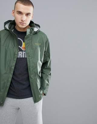Marmot PreCip Jacket Waterproof With Attached Hood in Khaki