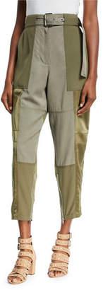 3.1 Phillip Lim Belted Patchwork Cargo Pants