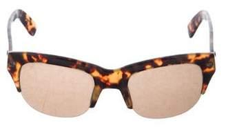 Lanvin Rimless Tortoiseshell Sunglasses