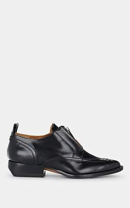 Chloé Women's Zip-Detailed Leather Oxfords - Black
