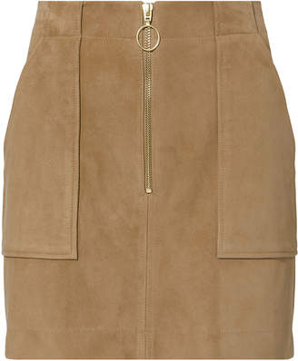 Intermix Magda Suede Mini Skirt