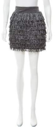 J.Crew J. Crew Fringe-Trimmed Wool Skirt
