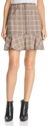 Rebecca Taylor Plaid Ruffled Mini Skirt