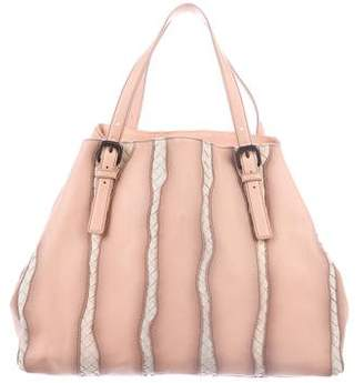 Bottega Veneta Washed Nappa Intrecciato Glimmer Tote Bag