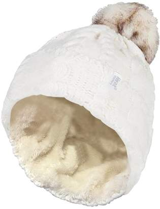 dd37f940556 at Amazon Canada · Heat Holders - Womens Warm Fleece Lined Knit Cuff Thermal  Winter Hat with Pompom