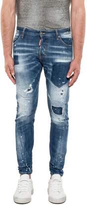 DSQUARED2 Blue Sexy Twist Denim Jeans