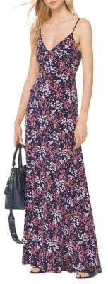 MICHAEL Michael Kors Bloom Floral-Printed Sleeveless Maxi Dress