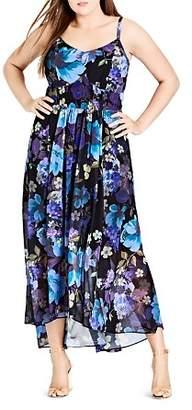 City Chic Plus Falling Floral Maxi Dress