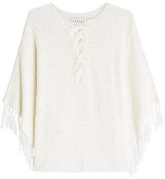 Velvet Cotton Poncho Pullover