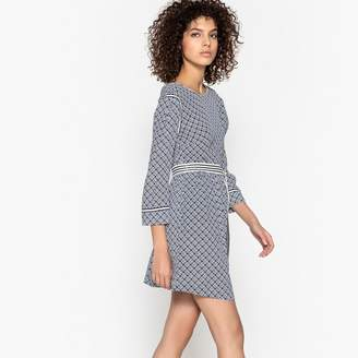 Suncoo Carelle Printed Backless Dress with Belt