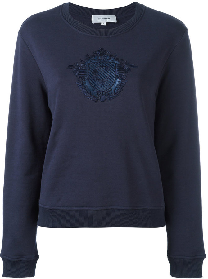 Carven Carven embroidered motif sweatshirt