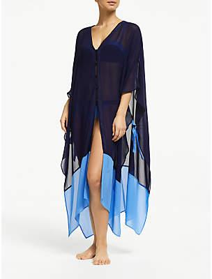 John Lewis & Partners Paradise Lost Colour Block Tie Side Kimono