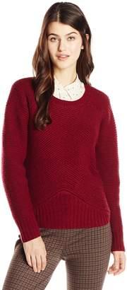 J.o.a. Women's Raglan Sleeve Long Sleeve Pullover Sweater