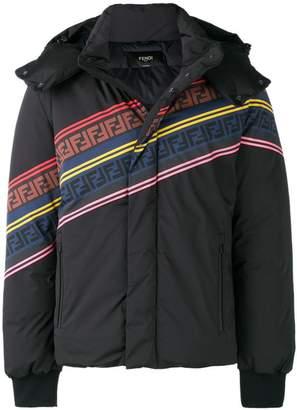 Fendi striped padded jacket
