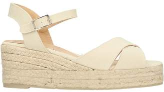 Castaner Blaudell Ivory Canvas Wedge Sandals