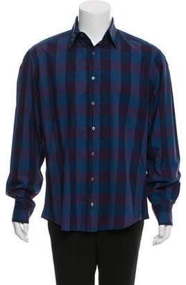 Michael Bastian Checkered Long Sleeve Shirt