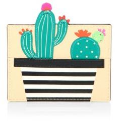 Kate Spade Kate Spade New York Scenic Route Cactus Leather Card Holder