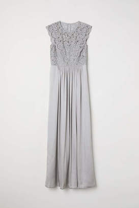 H&M Long Dress - Dark blue - Women