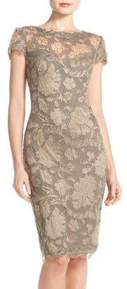Women's Tadashi Shoji Embroidered Lace Sheath Dress $398 thestylecure.com