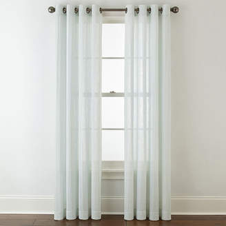 JCPenney JCP HOME HomeTM Bayview Pleated Grommet-Top Curtain Panel