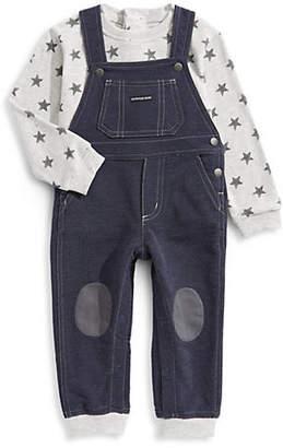 Calvin Klein Little Boy's Two-Piece Sweater Coveralls Set