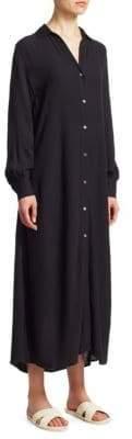 Frame Button Up Maxi Dress