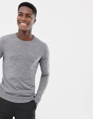 Jack and Jones Essentials 100% merino crew neck sweater