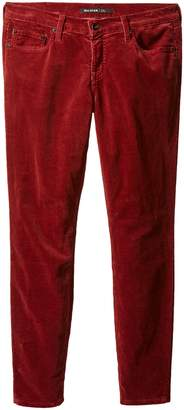 Big Star Women's Alex Mid Rise Skinny Corduroy Pant Jean In Warm Red