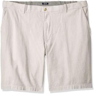 Izod Men's Big and Tall Seersucker Flat Front Short