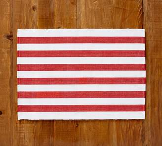 Pottery Barn Raney Bold Stripe Placemat, Set of 4 - Red