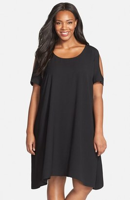 Sejour Cold Shoulder Swing Dress $99 thestylecure.com