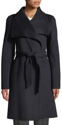 Tahari Ellie Handmade Wrap Coat w/ Belt