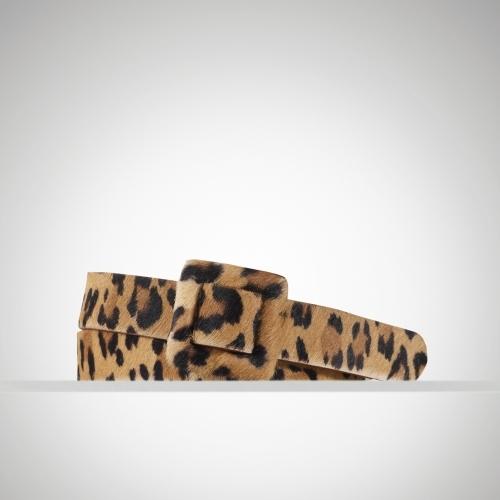 Ralph Lauren Leopard Haircalf Skinny Belt