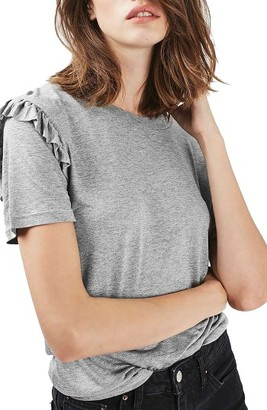 Women's Topshop Frill Sleeve Tee $15 thestylecure.com