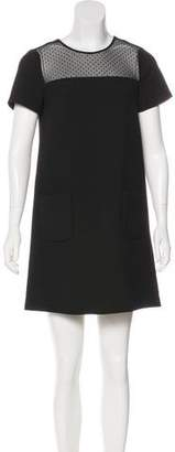 Comptoir des Cotonniers Mesh-Paneled Shift Dress