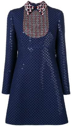 Valentino sequinned polka dot dress