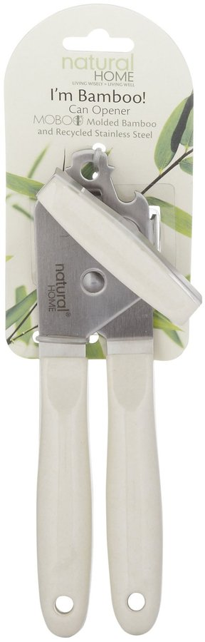Natural Home Products MOBOO-Stainless Steel Can Opener - Natural-Ivory