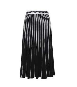 Off-White Pleated midi skirt
