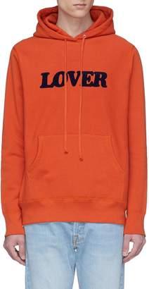 Bianca Chandôn 'Lover' velvet flock print hoodie