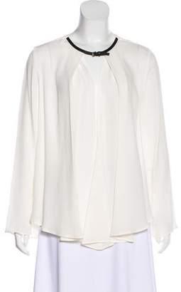 Giorgio Armani Long Sleeve Silk Blouse