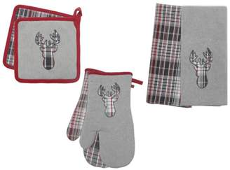 +Hotel by K-bros&Co Hotel by Domay Elk 6 Piece Kitchen Set - 2 Oven Mitts, 2 Pot Holders, and 2 Kitchen Towels