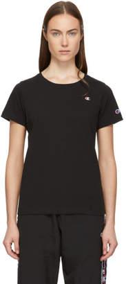 Champion Reverse Weave Black Small Logo T-Shirt