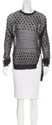 Jonathan Simkhai Embellished Open Knit Sweater