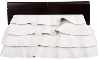 Michael Kors Leather Ruffle Clutch