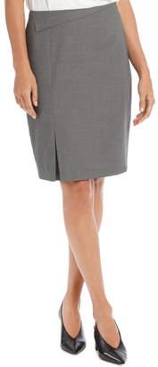 Grey Micro Spot Suit Skirt