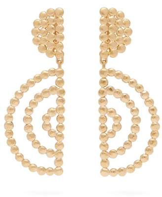 Chloé Oversized Gold Tone Drop Earrings - Womens - Gold