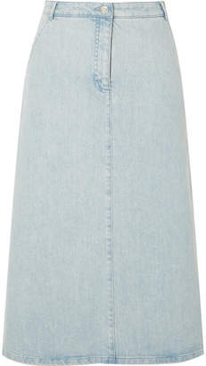 Vanessa Seward Faith Denim Midi Skirt - Light denim